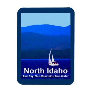 Azul del norte de Idaho Imanes Flexibles