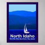 Azul del norte de Idaho Posters