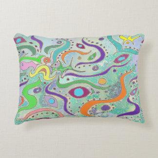 Azul del ojo de pescados/almohada del diseño del