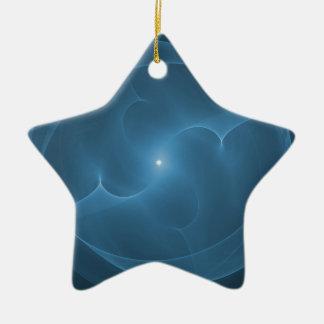 Azul del orbe de la energía adorno de navidad