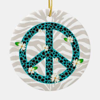 Azul del ornamento de la amistad de la flor de la  adornos