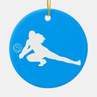 Azul del ornamento de la silueta del empuje adornos de navidad