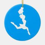 Azul del ornamento w/Name de la silueta de la aleg Adorno Para Reyes