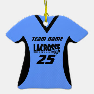 Azul del oro del jersey de LaCrosse Ornaments Para Arbol De Navidad