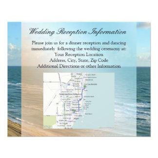 """Azul del paisaje marino y boda de playa del océano folleto 4.5"""" x 5.6"""""""