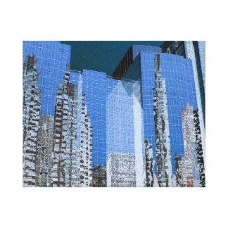 Azul del paisaje urbano de Boston Impresiones En Lona