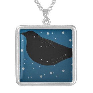 Azul del pájaro del invierno del collar