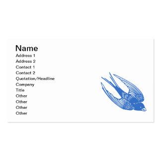 Azul del pájaro del trago tarjetas de visita