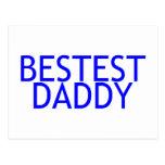 Azul del papá de Bestest Postal
