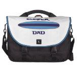 Azul del papá de la persona que practica surf bolsa para ordenador