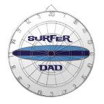 Azul del papá de la persona que practica surf tablero dardos