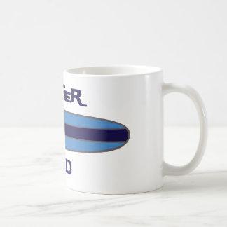 Azul del papá de la persona que practica surf taza de café