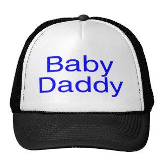 Azul del papá del bebé gorro de camionero