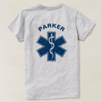 Azul del paramédico de EMT el ccsme Playera
