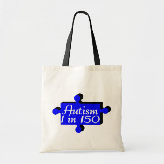 Azul del pedazo del rompecabezas del autismo bolsas