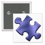 Azul del pedazo del rompecabezas del autismo pin