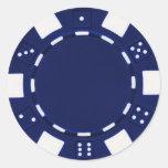 azul del pegatina del pokerchip