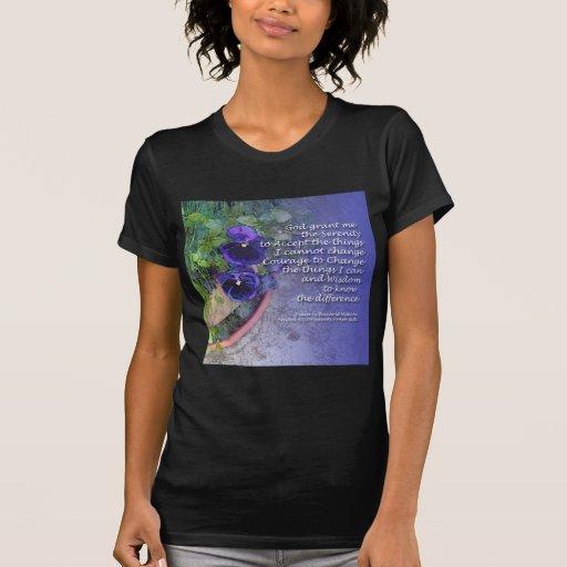 Azul del pensamiento del rezo de la serenidad camisetas