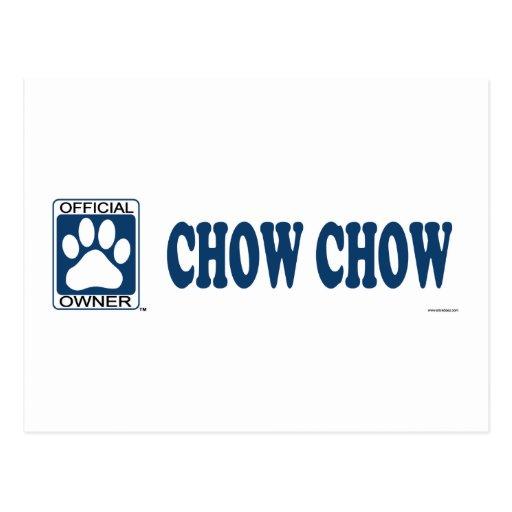 Azul del perro chino de perro chino postales