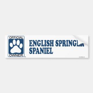 Azul del perro de aguas de saltador inglés pegatina de parachoque
