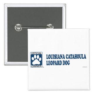 Azul del perro del leopardo de Luisiana Catahoula Pin Cuadrado