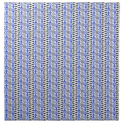 Azul del personalizado 1 de Fleur Servilletas De Papel