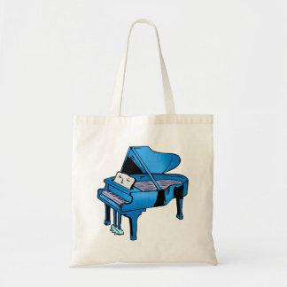 Azul del piano con diseño gráfico del piano de la  bolsa tela barata