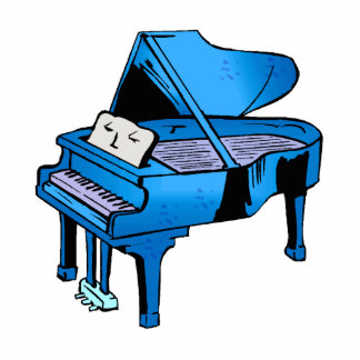 Azul del piano con diseño gráfico del piano de la  esculturas fotograficas