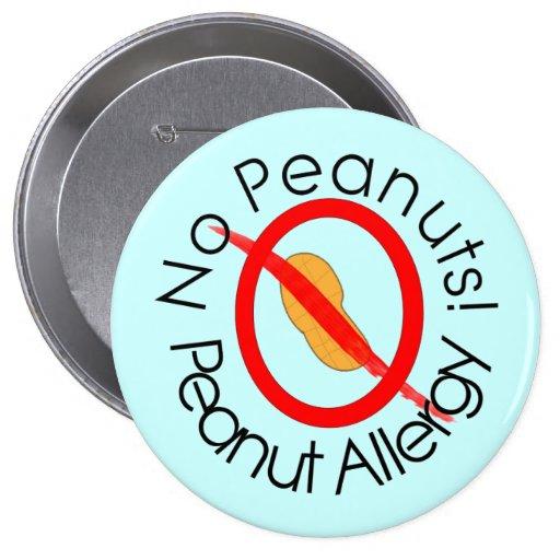 Azul del Pin de la alergia del cacahuete Pin Redondo 10 Cm