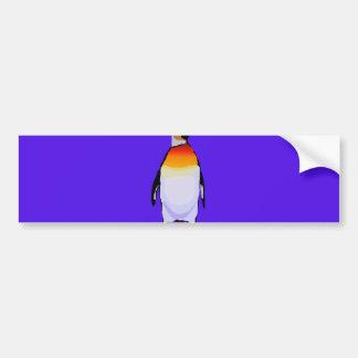 Azul del pingüino pegatina para auto