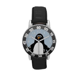 Azul del pingüino relojes de mano
