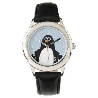 Azul del pingüino relojes de pulsera