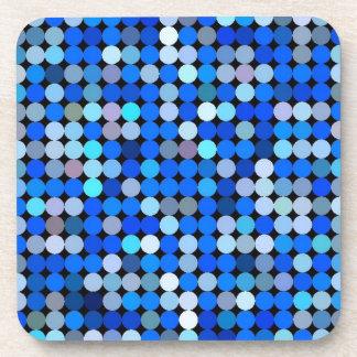 Azul del pixel aguamarina posavasos