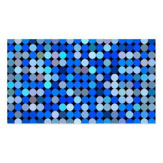 Azul del pixel, aguamarina tarjeta de visita