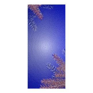 Azul del Poinsettia del navidad Lona