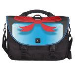 Azul del presente de cumpleaños bolsas de portatil