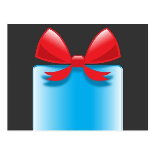 Azul del presente de cumpleaños postales