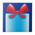 Azul del presente de cumpleaños tejas  ceramicas