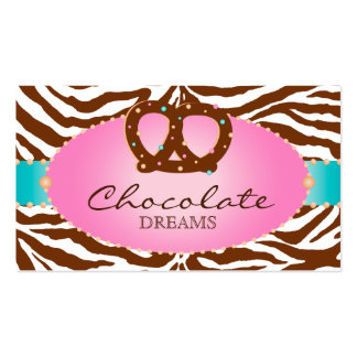 Azul del pretzel del chocolate de la tarjeta de vi tarjetas de negocios
