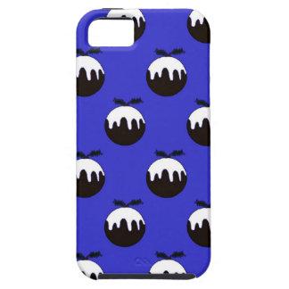 Azul del pudín del navidad funda para iPhone SE/5/5s