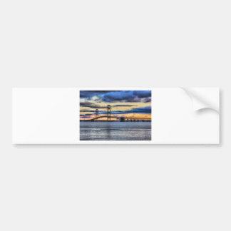 Azul del puente de Mackinac 1155 Pegatina Para Auto