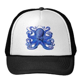 Azul del pulpo de Haeckel Gorras De Camionero