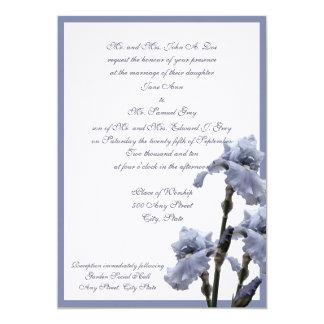 """Azul del ramo del iris invitación 5"""" x 7"""""""