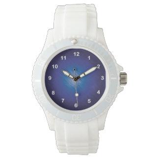 Azul del rasguño relojes de mano