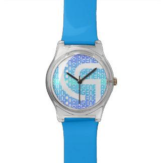 Azul del reloj de LCG