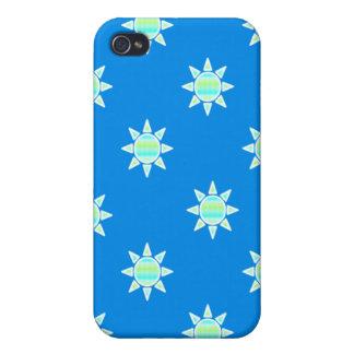Azul del resplandor solar iPhone 4 carcasa
