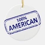 Azul del Reubber-sello del americano del 100% en b Ornamente De Reyes