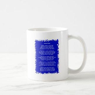 Azul del rezo del autismo taza