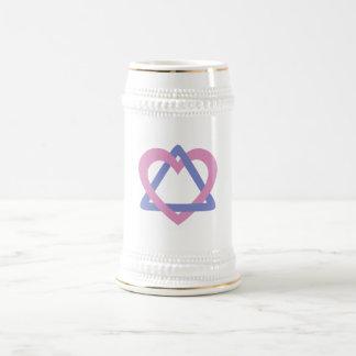 Azul del rosa del triángulo de la adopción tazas