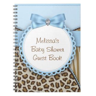 Azul del safari y libro de visitas dulces de la fi libretas espirales